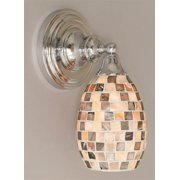 11 in. Wall Sconce w 5 in. Seashell Glass Shade