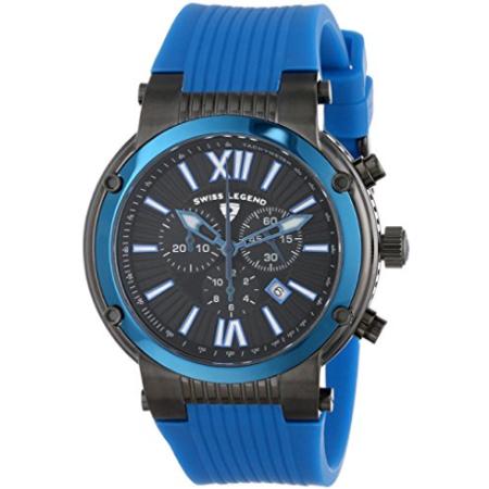 Swiss Legend Men's Legato Cirque Analog Display Swiss Quartz Blue Watch - SL-643-10006-BB-01-BLB