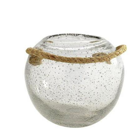 Diamond Star 85310 8 X 8 In  Glass Vase  44  Clear