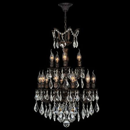 Worldwide Lighting Versailles 15-Light Crystal (Versailles Rock Crystal)