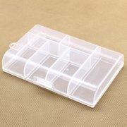1PC Portable Plastic 6 Compartment Storage Container Case Box Clear Transparent