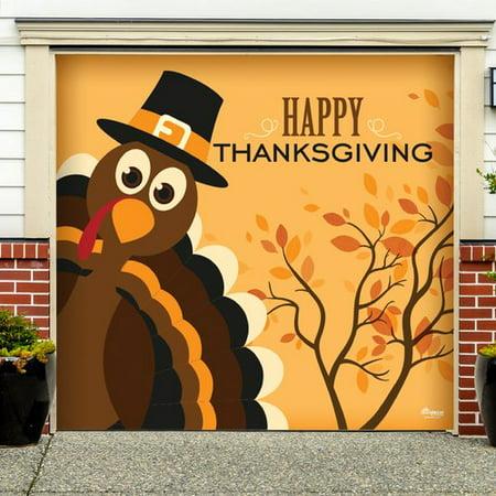 The Holiday Aisle Happy Thanksgiving Turkey Garage Door - Happy Halloween Garage Door Magnets