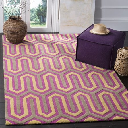 Wrought Studio Martins Hand Tufted Wool Pinkgray Area Rug Walmartcom