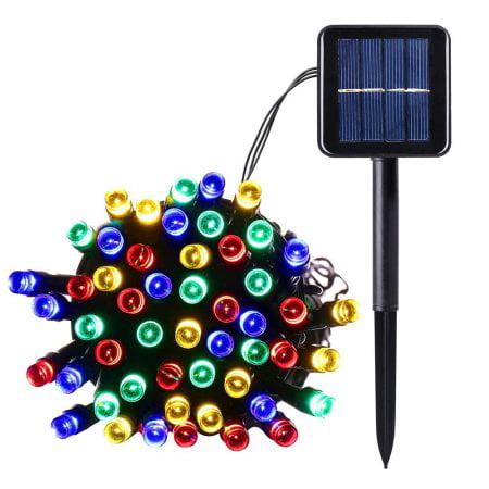 qedertek solar christmas lights led solar string lights39ft100 led lights for homelawn