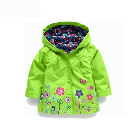 Binmer® Girls Clothes Jacket Kids Raincoat Coat Outerwear Children Clothing Jacket 5T