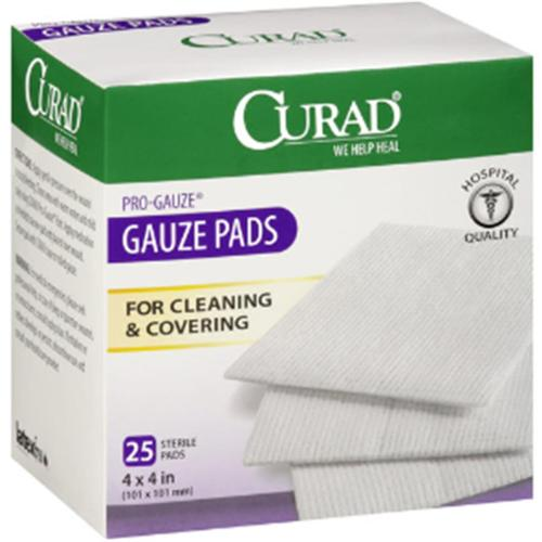"Curad Sterile Pro-Gauze Pads 4"" x 4"" 25 ea (Pack of 2)"