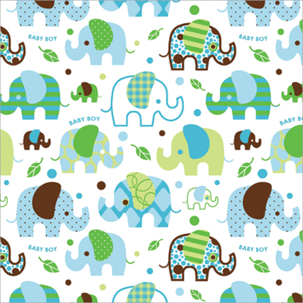 Cindus 76-052 Gift Wrap, 5-Feet x 30-Inch, Baby Boy Multi-Colored