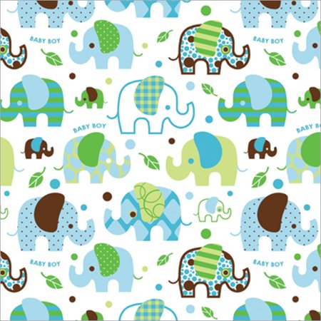 Cindus 76 052 Gift Wrap 5 Feet X 30 Inch Baby Boy Multi Colored
