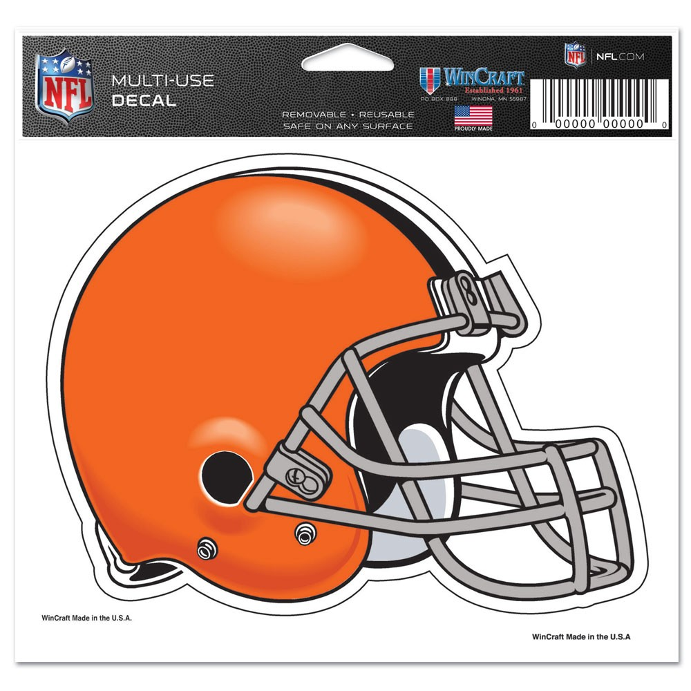 Cleveland Browns Official NFL 4 inch x 6 inch Car Window Cling Decal by Wincraft