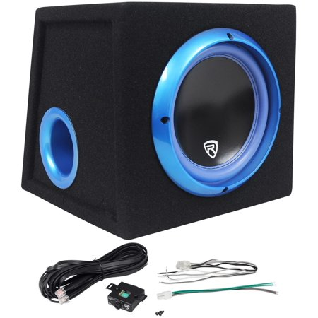 Rockville RVB8.1A 8 Inch 300W Powered Car Subwoofer/Sub Enclosure Box + Remote