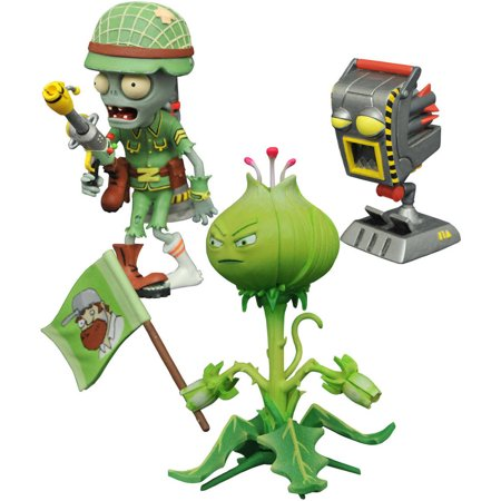 Diamond Select Toys Plants vs. Zombies Garden Warfare 2 Select Weedpart vs. Soldier Zombie Action - Zombie Soldier