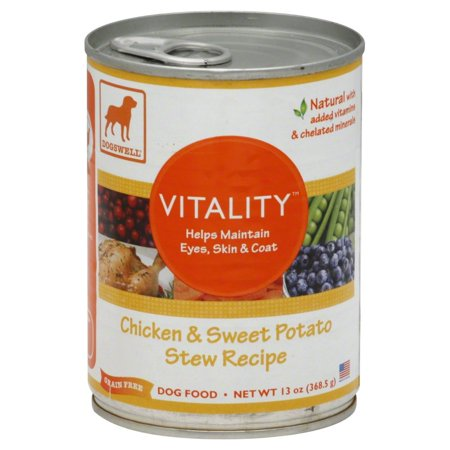 Dogswell Vitality for Dogs, Chicken & Sweet Potato Stew Recipe, 13 Ounce Cans