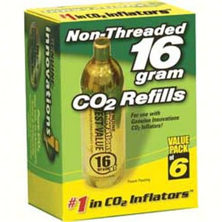 Genuine Innovations 2173  2173; Non-Threaded Style Cartridges 16G, 6/pack, ground shipping only