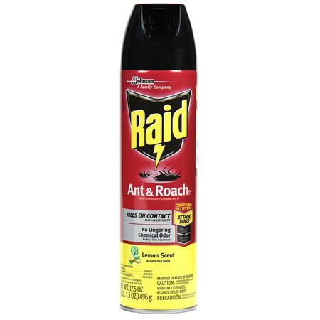 (Raid Ant & Roach Killer, Lemon Scent, 17.5 OZ)