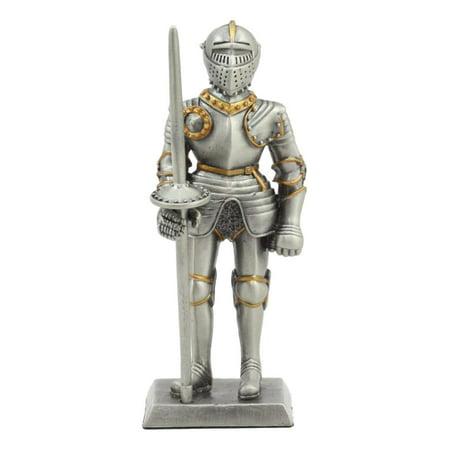 Ebros Pewter English Knight Statue 4
