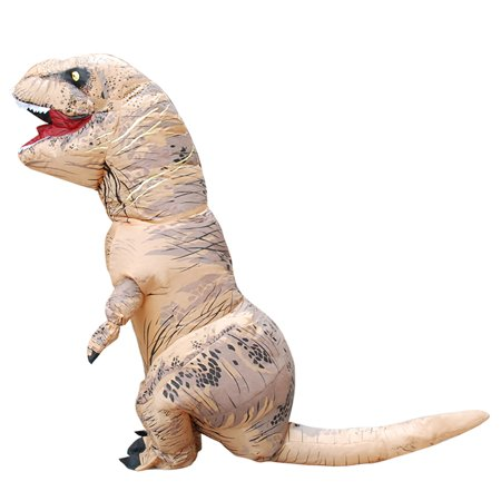 Halloween Dinosaur Costume Inflatable Fancy Cosplay Dress Theme Party Clothing for Kids(Brown)