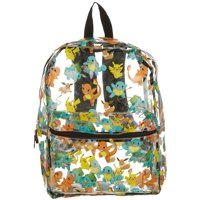 Pokemon Kids Tossed Pokemon Clear Backpack One Size Clear multi