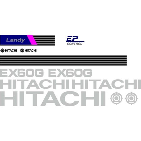 Decal Set with Landy & EP Control Decals Made For Hitachi