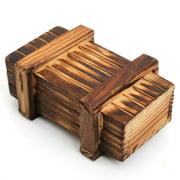 Puzzle Box Wooden Secret Mini Compartment Gift Intelligence Brain Teaser Logic Educational Toy