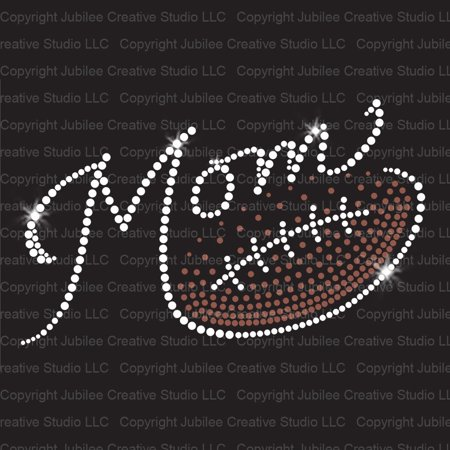 Rhinestuds Iron Ons (Football Mom Gradient Iron On Rhinestone and Rhinestud Transfer)