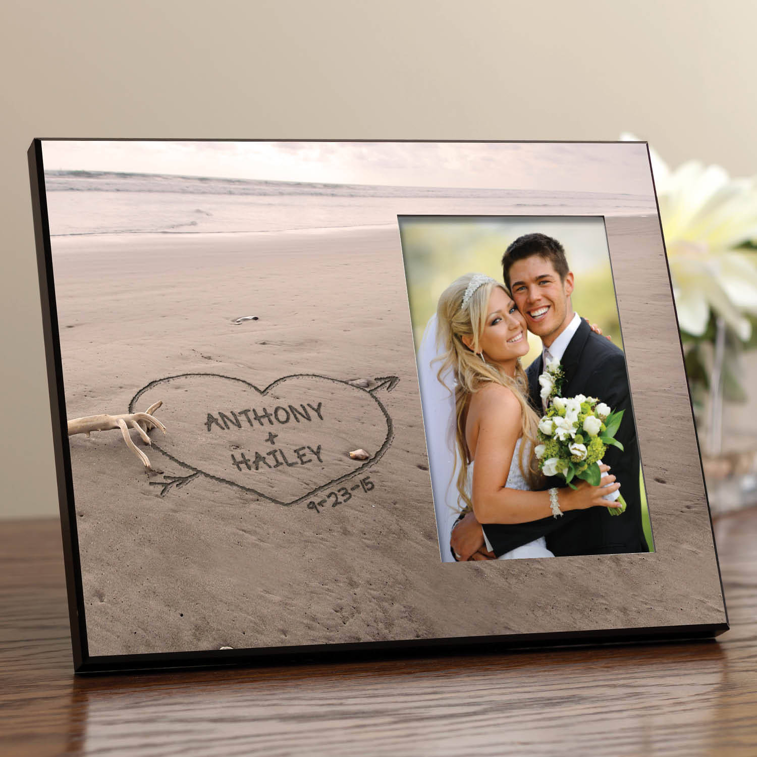 Personalized Names In The Sand Frame