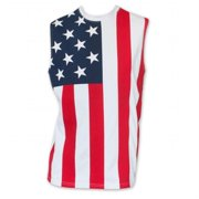 Patriotic 23942M USA American Flag Stars and Stripes Mens Muscle Tank Top Shirt, Medium