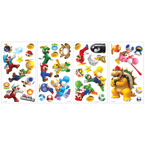 Room Mates Popular Characters Super Mario Bros. Wii Wall Decal