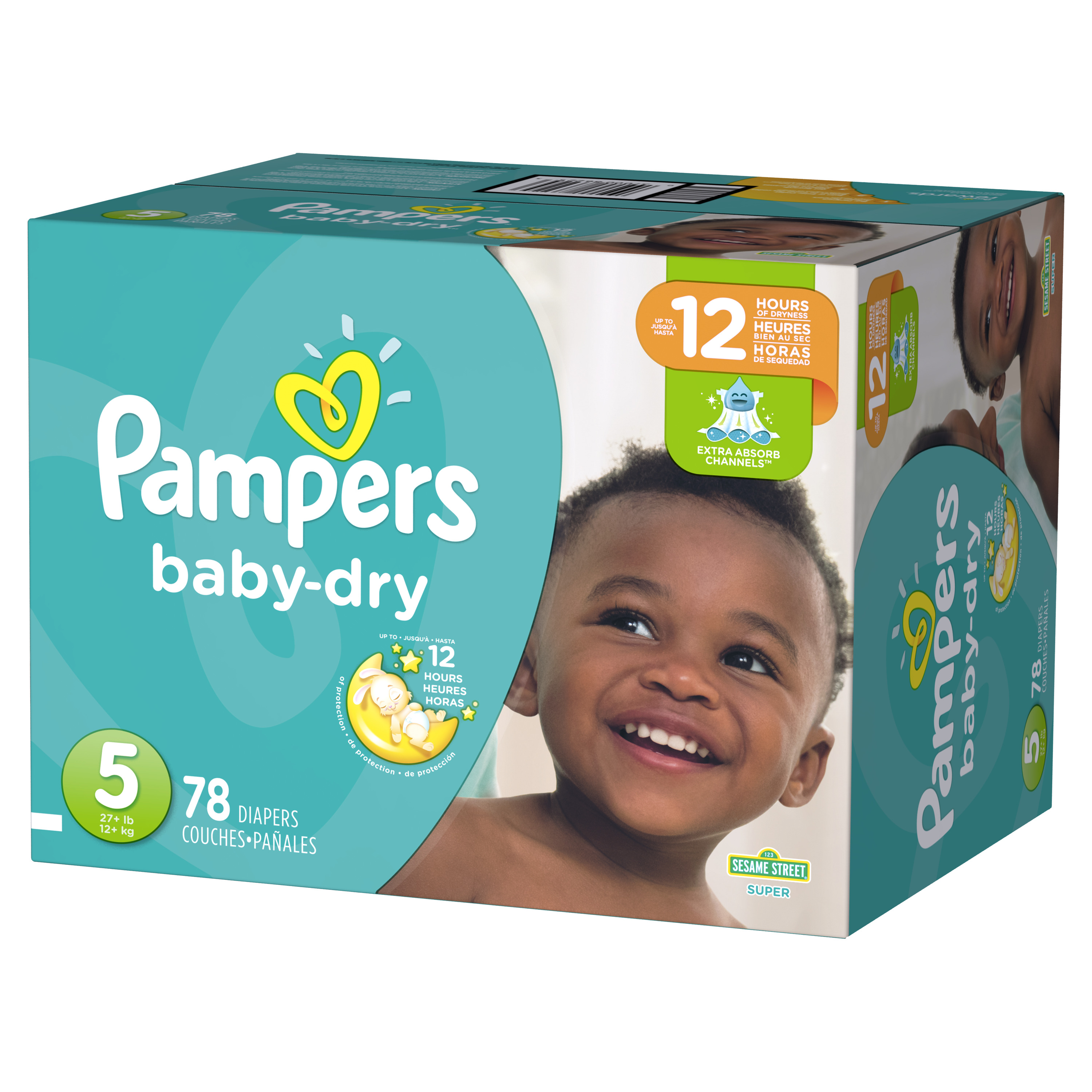 Pampers Baby-Dry Diapers Size 5 78 Count
