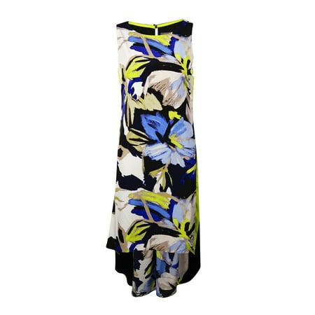 Vince Camuto Women's Colorblocked Floral Hi-Lo Dress
