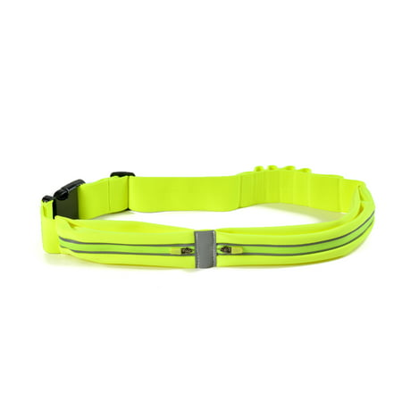 Waterproof Sweatproof Reflective Running Fitness Belt W  Dual Pouch Bag For All Cell Phones