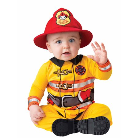 Toddler Boys Tiny Firefighter Halloween Costume Fireman Toddler Size 12-18 Month