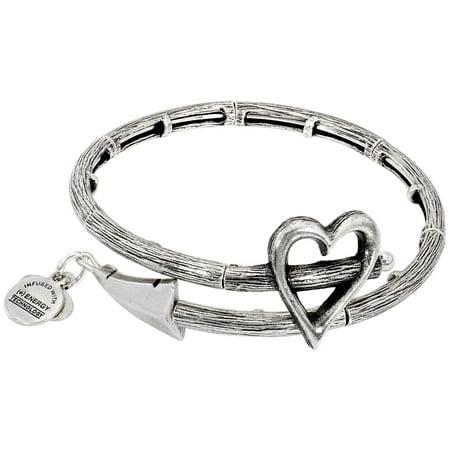 Alex And Ani Cupid's Arrow Wrap Rafaelian Silver Bangle Bracelet V17W02RS Bamboo Silver Bracelet Bangle