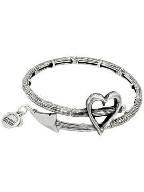 Alex And Ani Cupid's Arrow Wrap Rafaelian Silver Bangle Bracelet V17W02RS