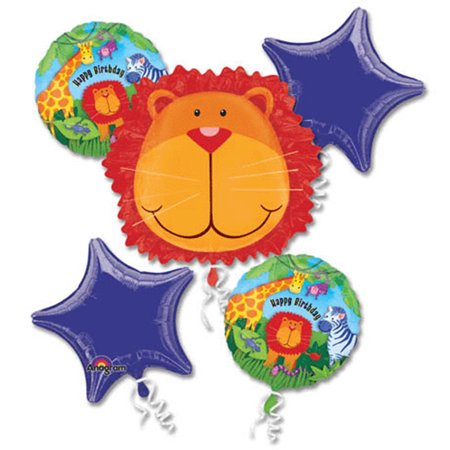 Safari Themed Giveaways (Safari Animals Happy Birthday Theme Foil Balloon)