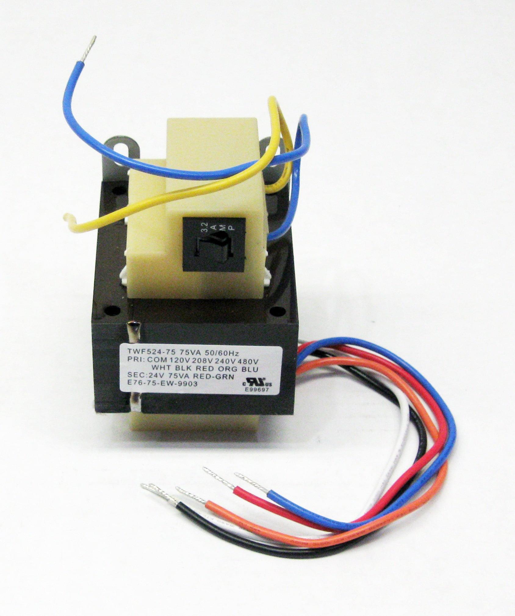 75VA Transformer Primary 120V 208V 240V 480V Volt 24V Secondary HVAC on
