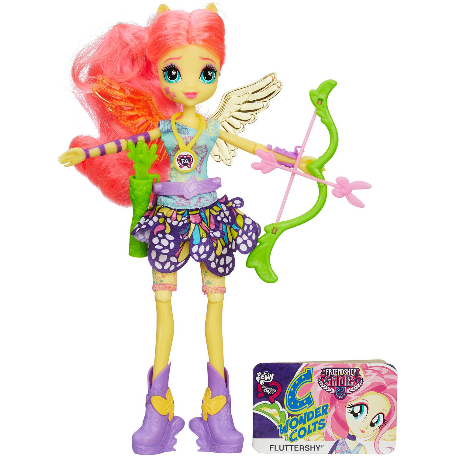 My Little Pony Equestria Girls Fluttershy Sporty Style Archery Doll by Hasbro