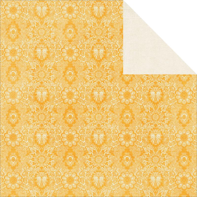 """Tropical Punch Double-sided Cardstock 12""""x12""""-lemonade"""