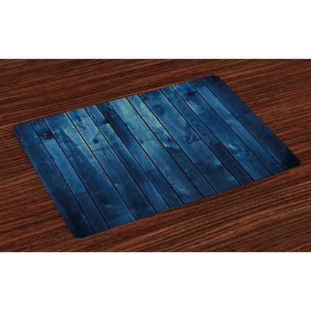 Dark Blue Placemats Set of 4 Wooden Planks Texture Image Board Floor Wall Lumber Rustic Country Life, Washable Fabric Place Mats for Dining Room Kitchen Table Decor,Pale Blue Dark Blue, - Palace Floor