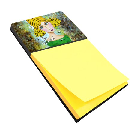 Bee Grateful Girl with Beehive Sticky Note Holder VHA3008SN