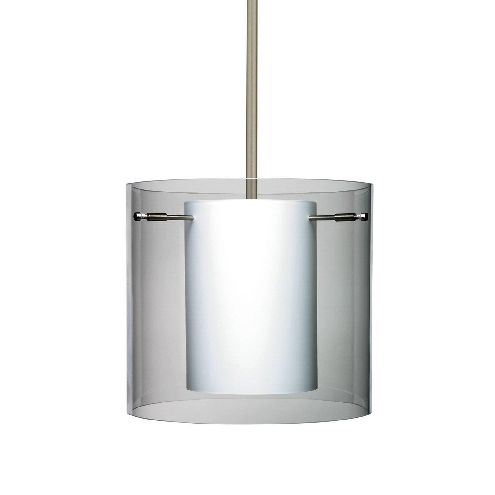 Besa Lighting  1TT-C18407  Pendants  Pahu  Indoor Lighting  ;Satin Nickel