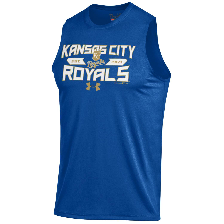 Kansas City Royals Under Armour Tech Performance Sleeveless T-Shirt - Royal