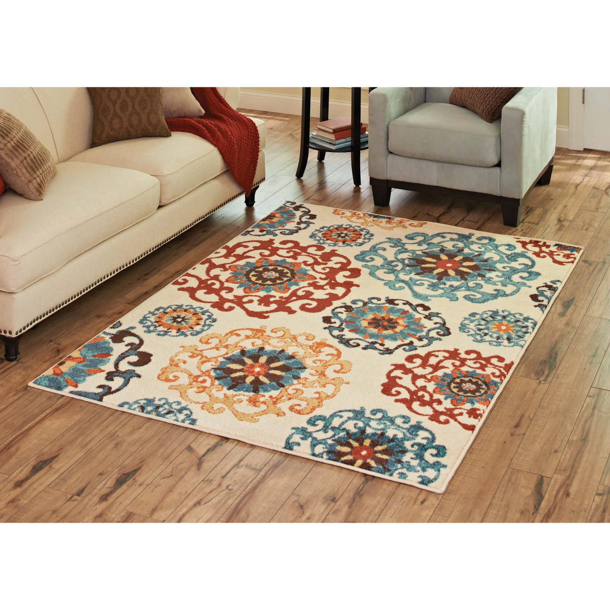 Walmart Rugs For Living Room Better Homes And Gardens Suzani Area Rug Or Runner Walmartcom