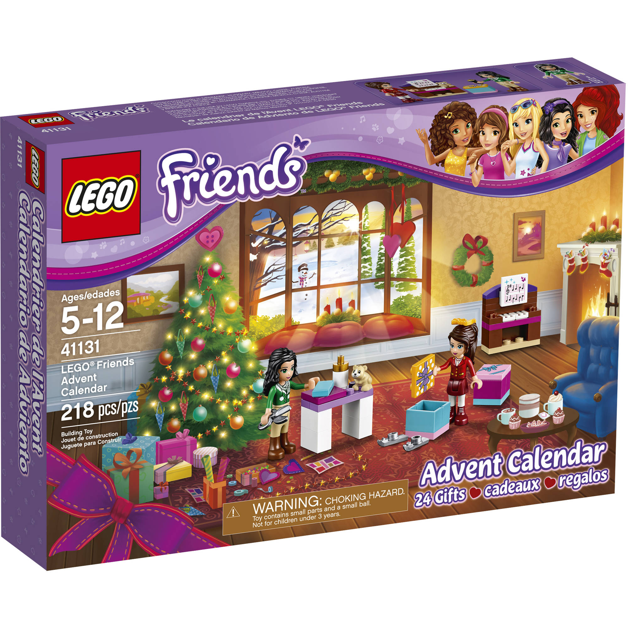 lego friends lego friends advent calendar 41131. Black Bedroom Furniture Sets. Home Design Ideas