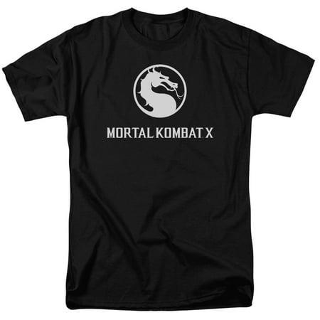 Mortal Kombat X Fighting Video Game Horizontal Dragon Logo Adult T-Shirt Tee