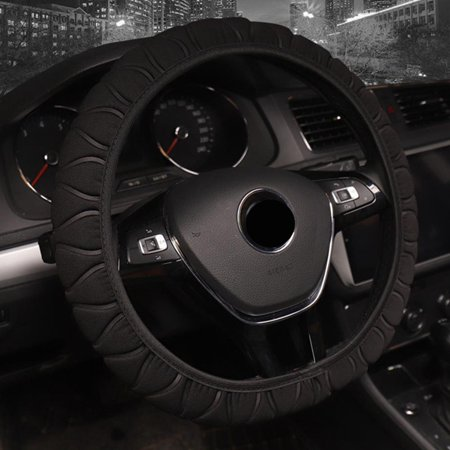 AkoaDa 2019 New Fashion Solid Color Ice Silk Elastic Band Steering Wheel Cover Car Styling