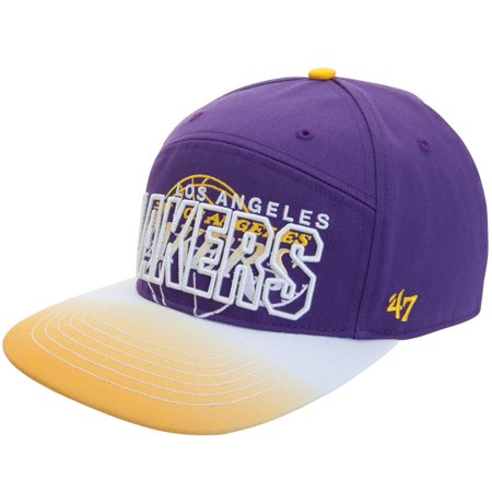 Los Angeles Lakers Logo Glowdown Snapback Cap by