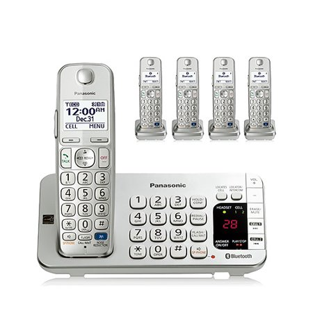 Telephone Base (Panasonic KX-TGE275S DECT 6.0 Technology 1.9GHz 1 Base And Cordless Handset W/ 4 Expandable Handset Cordless Phone )