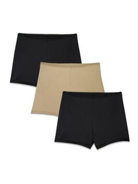 Radiant by Vanity Fair Women's 3 Pack Undershapers Light Control Boyshort Panty, Style 3442301