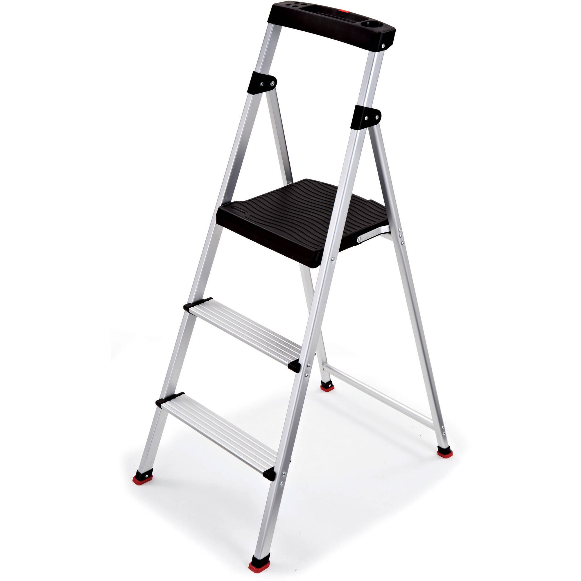 Rubbermaid 3 Step Lightweight Aluminum Step Stool With