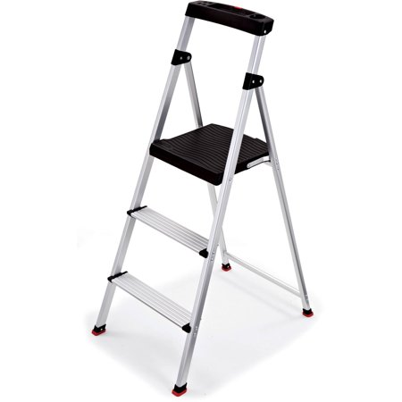 Terrific Rubbermaid 3 Step Lightweight Aluminum Step Stool With Project Top Caraccident5 Cool Chair Designs And Ideas Caraccident5Info